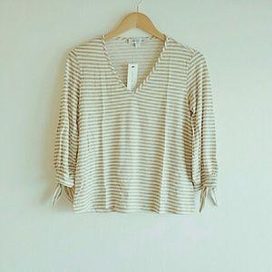 Amour Vert Organic Cotton Striped Top Size XS